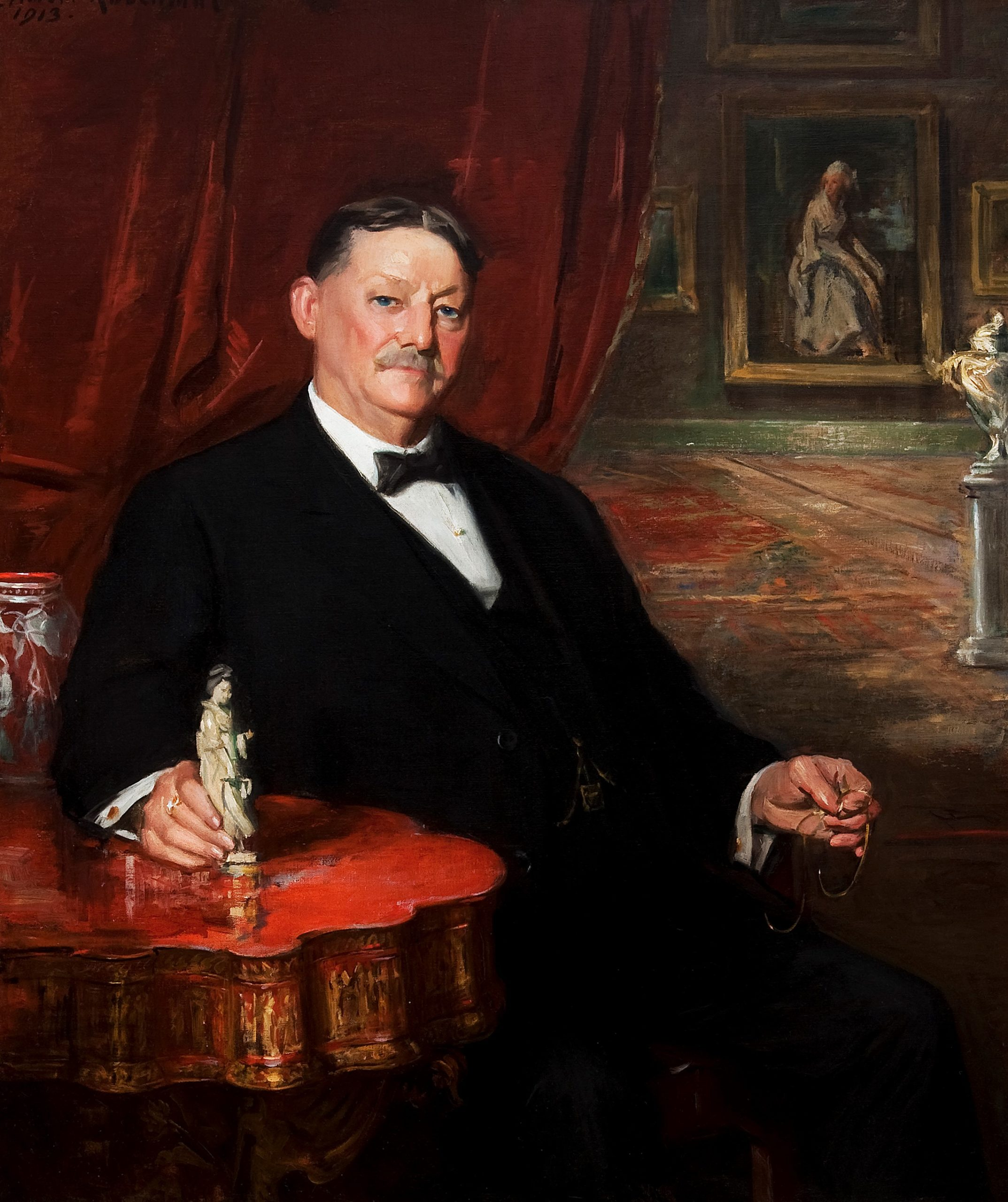 Charles Knox Smith, founder of Woodmere Art Museum, in a 1913 portrait by Albert Rosenthal. ( Image courtesy of Woodmere Art Museum: Bequest of Charles Knox Smith)